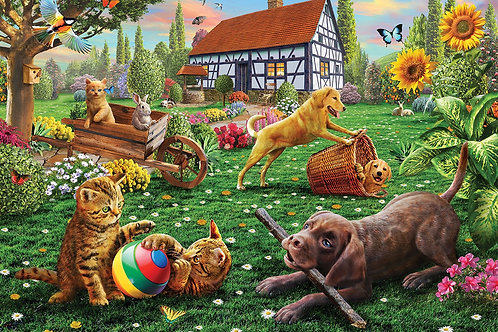 500 PARÇA DOGS AND CATS AT PLAY