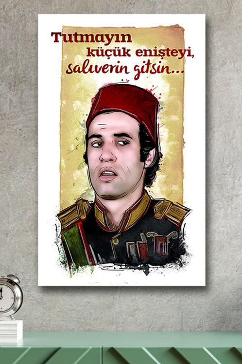 Tutmayın Küçük Enişteyi Kemal Sunal Yeşilçam Retro Ahşap Poster 10x20