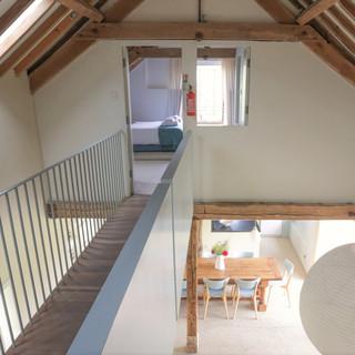 Hall Barn galleried walkway