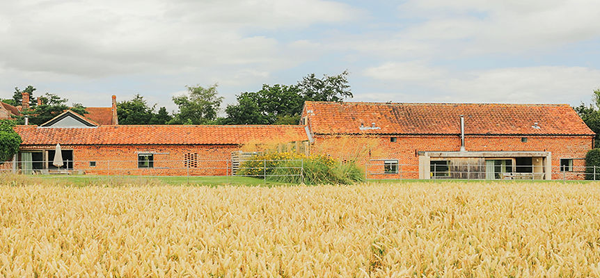 Quaker Barn (left) and Hall Barn (right)