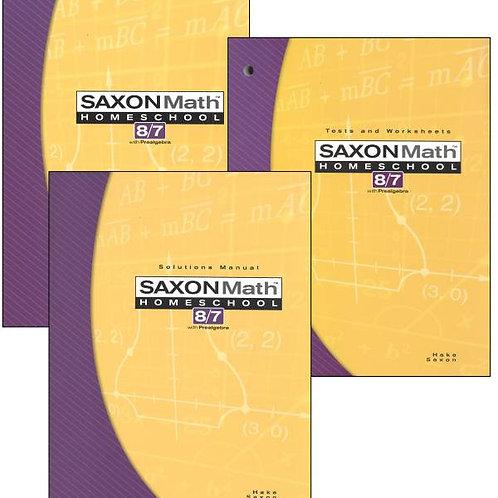 Saxon 8/7 3rd ed. Kit: Student Text, Solutions Manual, Tests & Worksheets Kit