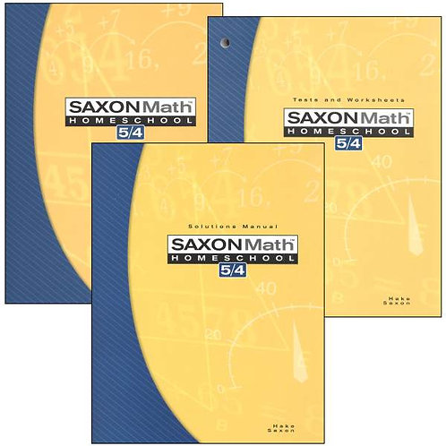 Saxon 5/4 3rd ed. Kit: Student Text, Tests and Worksheets, Solutions Manual