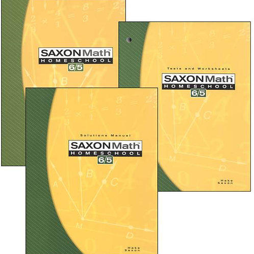 Saxon 6/5 3rd ed. Kit: Student Text, Solutions Manual, Tests & Worksheets