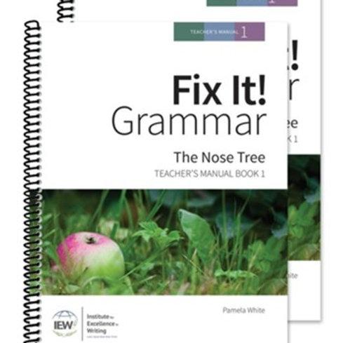 """IEW """"Fix It"""" Fix It! Grammar: The Nose Tree [Teacher Manual 1]"""