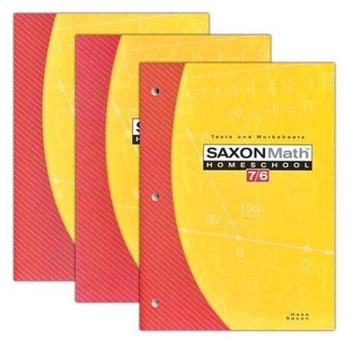 Saxon 7/6 4th ed. Kit: Student Text, Solutions Manual, Tests & Worksheets Kit