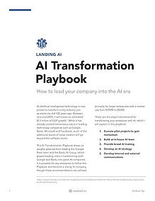 Andrew Ng: AI Transformation Playbook - 12 pages