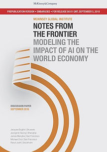 McKinsey Global Institute: Notes from the frontier: Modeling the impact of AI on the world economy - 64 pages
