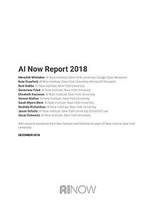 AI Now Institute, New York University: AI Now Report 2018 - 62 pages