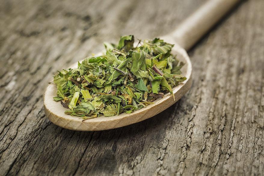 Herbs on Wooden Spoon