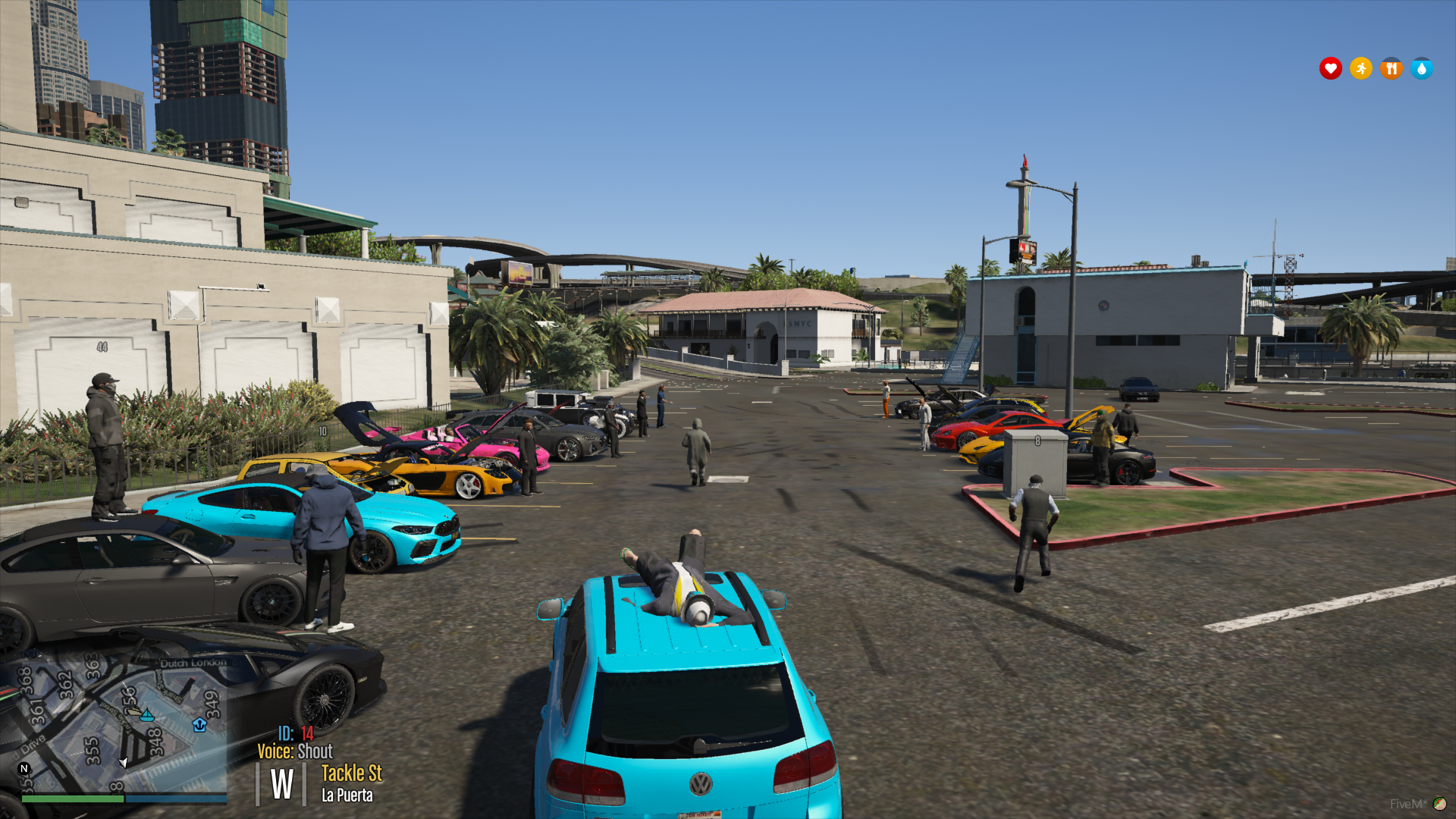 Car meet at the docks