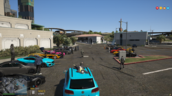 Car meet at the docks