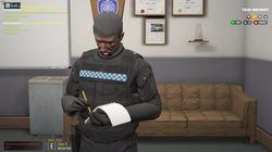 Officer Andy looking busy