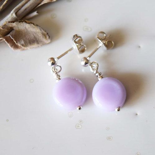 OSMOSE | Boucles d'oreilles Cercle Perles de verre Rose Clair A