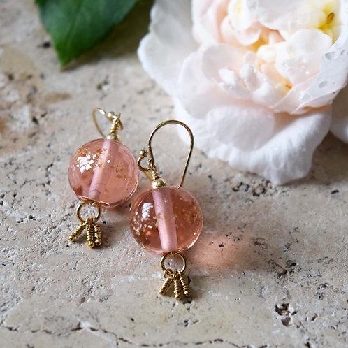 Boucles d'oreilles en verre Bohème chic   FEU   Bijoux artisanaux