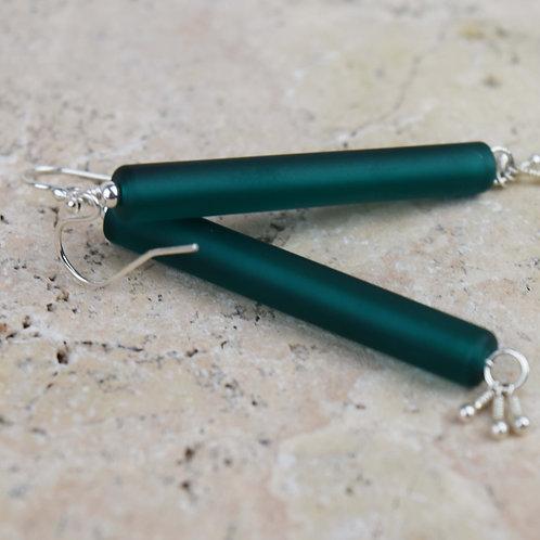 Boucles d'oreilles [terre] Perles de verre et Argent 925