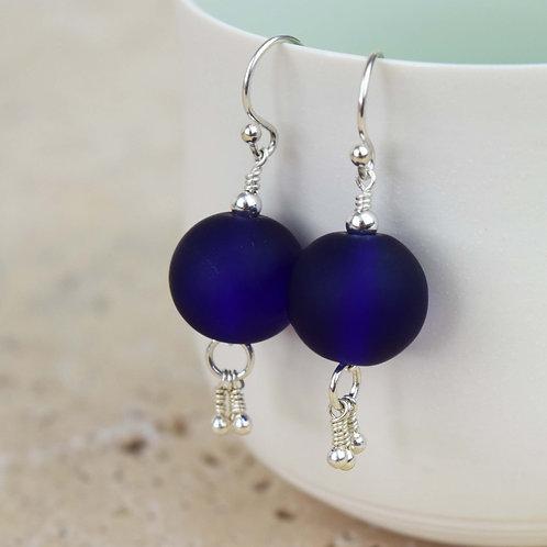 B.O Divine Alchimie [terre] Perles de verre et Argent 925