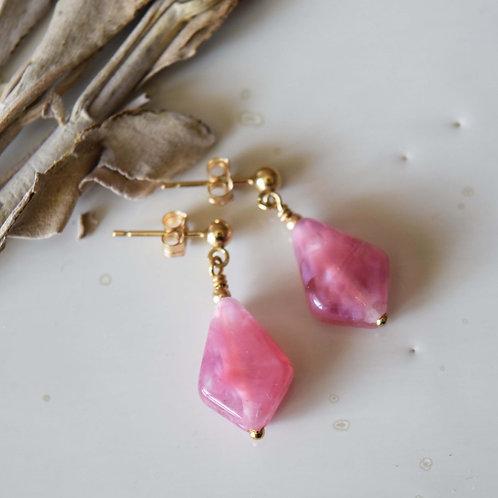 B.O Rose Profond OSMOSE | Perles de verre Losange