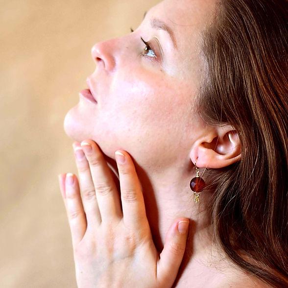 Bijoux Femmes en Perles de Verre Boucles