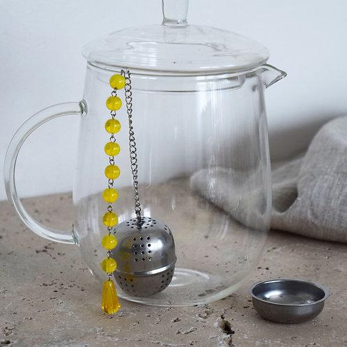 Boule à thé Jaune Chakra Solaire Manipûra