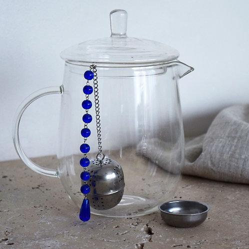 Boule à thé Bleue Chakra 3 ème oeil Ajna