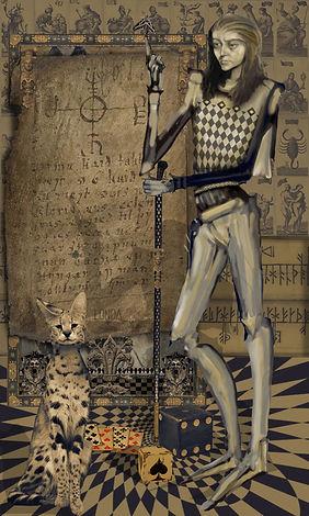 """""""Shadow Codes"""" Licensed Digital Art Print"""
