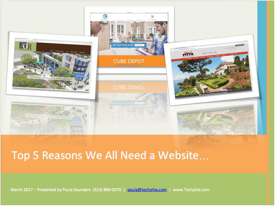Techphix Top 5 Reasons We All Need a Website