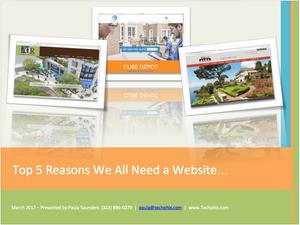 Techphix Top 5 Reasons We All Need a Website
