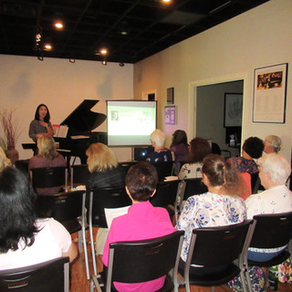 """I am so lucky to have the supportive and encouraging piano community in South Bend. It is always my pleasure to present workshops to fellow teachers.   My recent workshops include  """"21st Century Sonatina  Repertoire For Novice To Intermediate Students"""" and """"Art of Pedaling""""."""