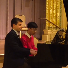 I taught Chris through his high school years, and one of the highlights of teaching Eric was getting him ready to perform a four hands piano duet with Major Pete! Chris is now a senior at Cornell University.