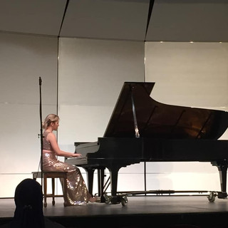 It was a great pleasure teaching and mentoring Jennie for the last 4 years. She is an incredibly dedicated and passionate musician! Now she is pursuing a Masters Degree in Piano Performance at the University of Denver. This photo is from Jennie's senior recital at Saint Mary's College, 2019.