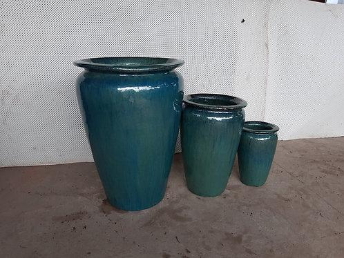 72108 Medium Vase Aqua