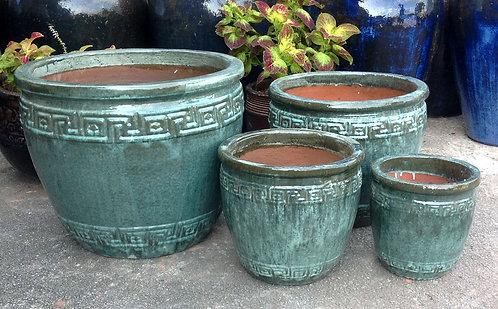 71973 Greek Pot Aqua