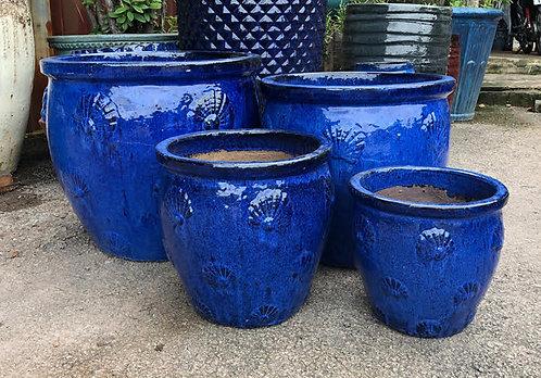 72119 Shell Pot Blue
