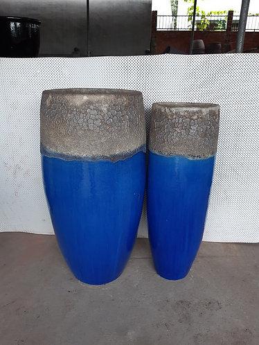 72112 Grand Vase Coral White Blue
