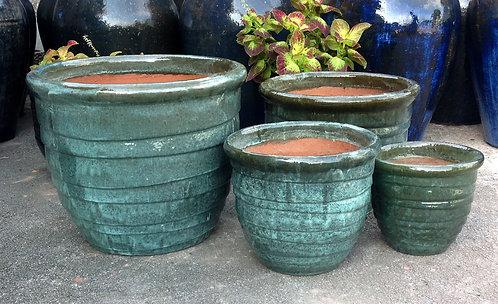 71974 Wide Ring Pot Aqua