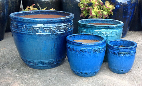 71972 Greek Pot Blue