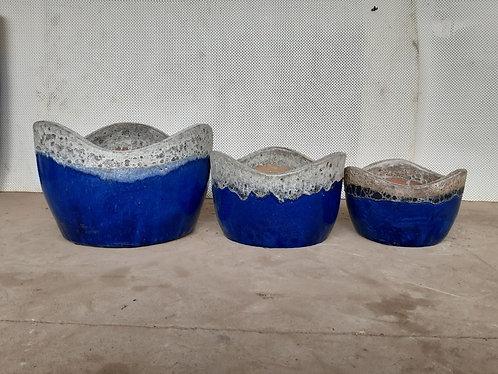 72115 Wave Pot Coral