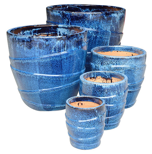 72139 Wrap Planter Marble Blue