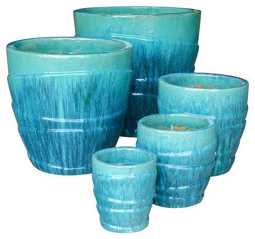 71885 Wrap Planter Caribbean Blue