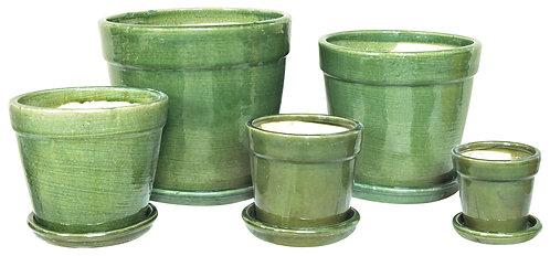 70497 Standard Pot With Saucer Celadon