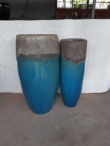 72113 Grand Vase Coral White Aqua