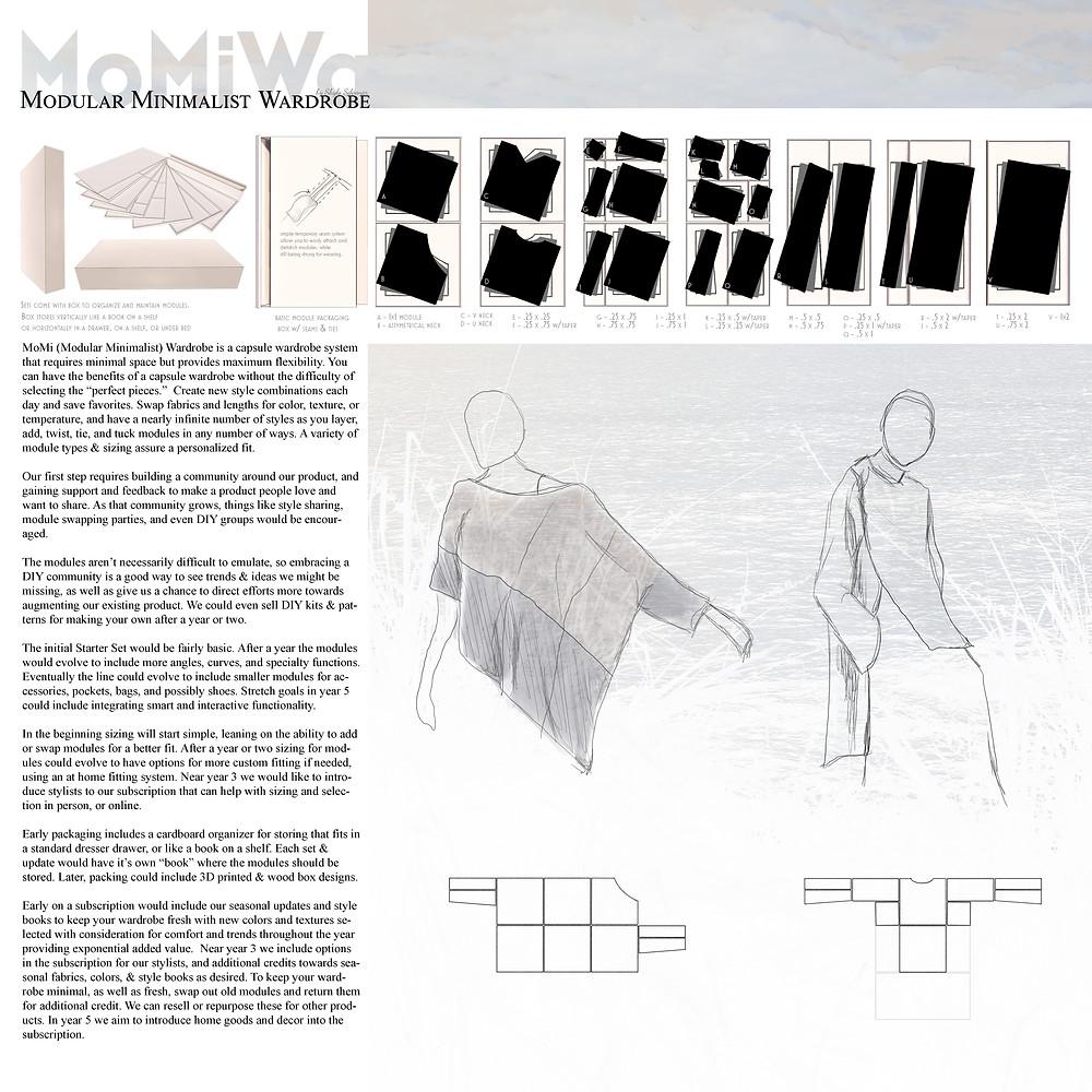 modular wardrobe based on panels