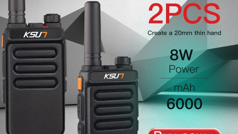 2 PCS Talkie Walkie Scanner  UHF Walkie Talkie 10KM Two Way Ham