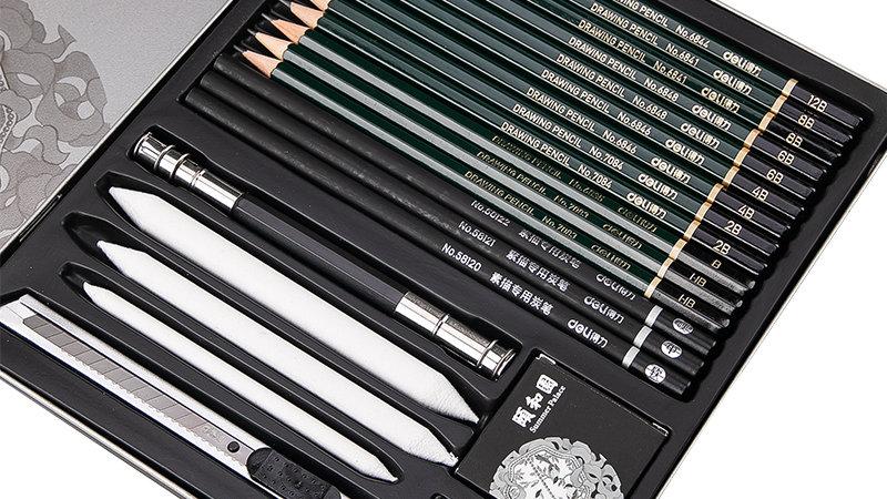 DELI Sketching Art Set Profesional Sketch Charcoal Pencils Art Painting China
