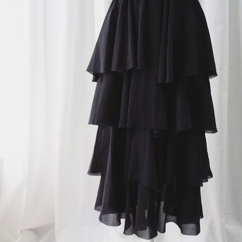 Black Chiffon Pleated Skirt | Summer Outfit | United States| Verylin