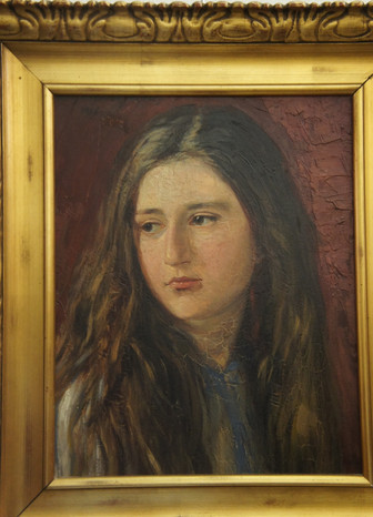 Porträt Mädchen Antik Galerie Sehenswert