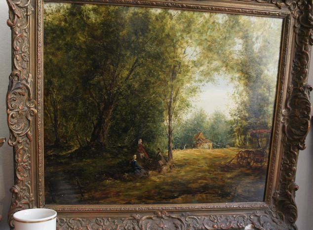 Gemälde Wald Antik Galerie Sehenswert
