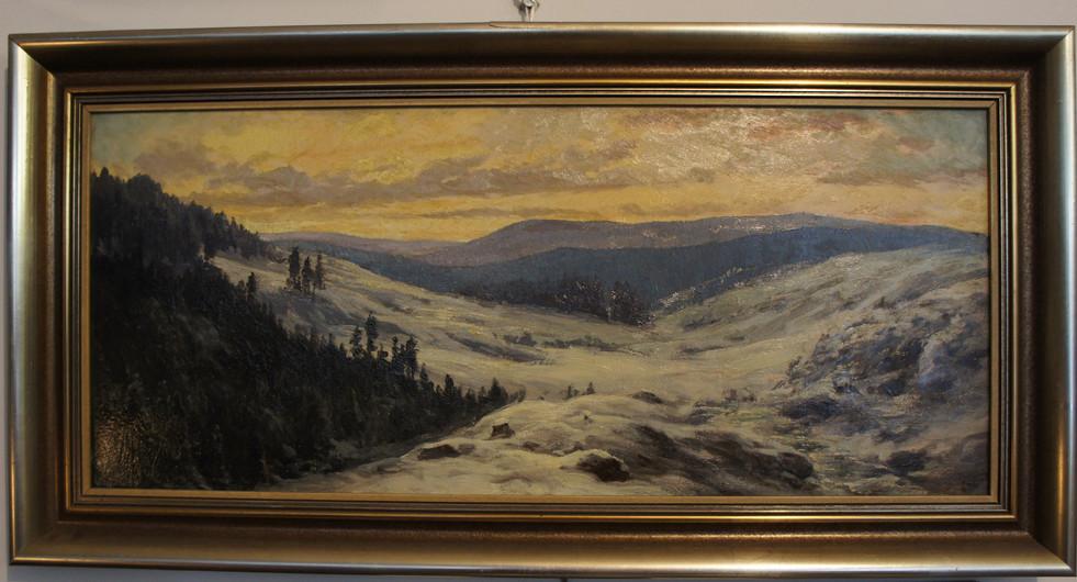 Gemälde Berglandschaft Antik Galerie Sehenswert Leipzig