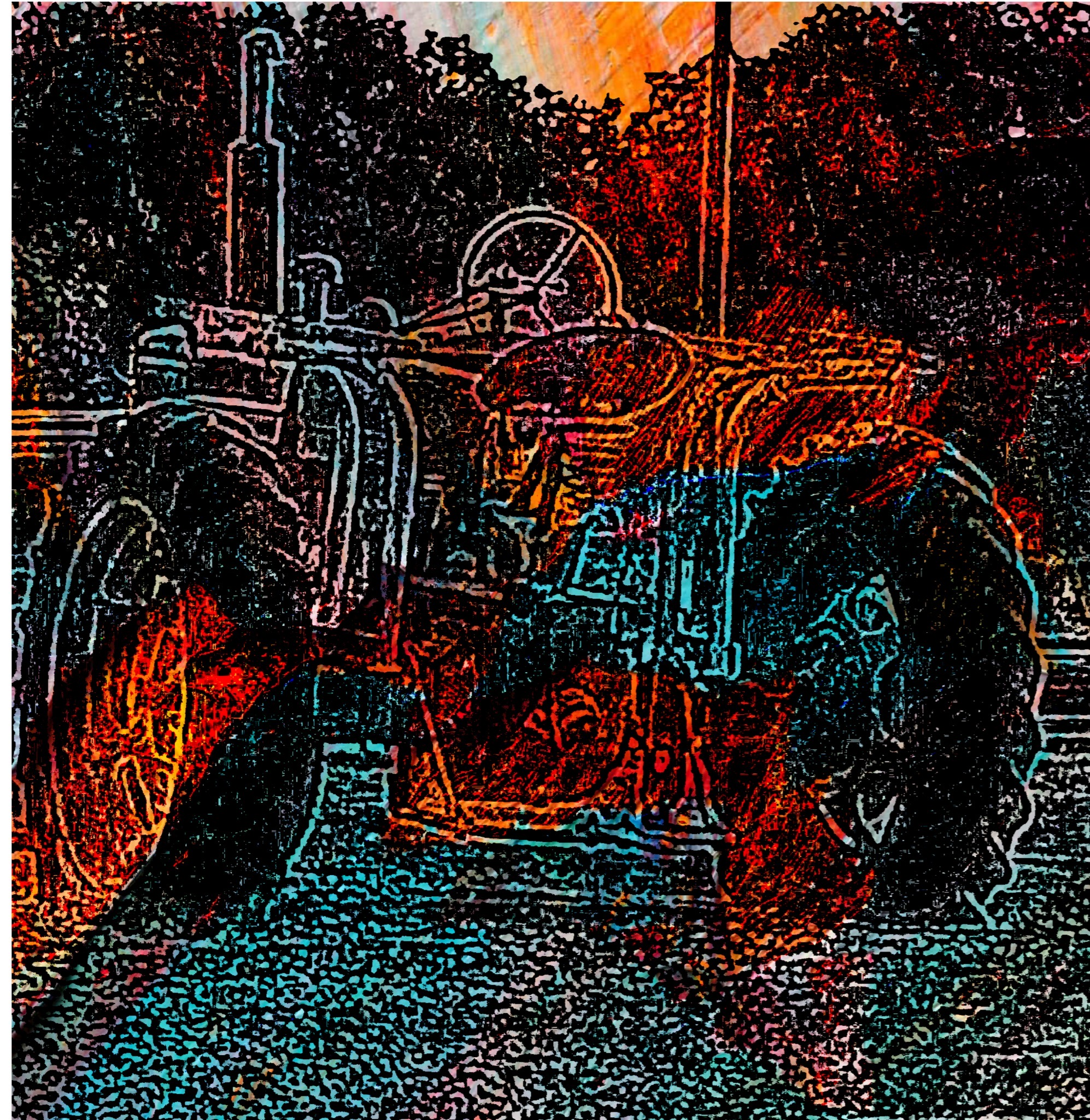 Tractor On The Rocksjpg
