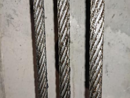 エレベーター主索点整備(主ロープ)